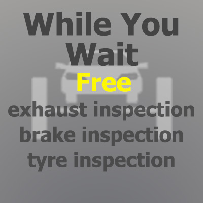Free vehicle inspection whilst you wait