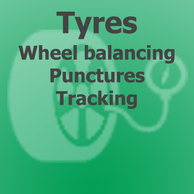 Tyres, wheel balancing, punctures & tracking