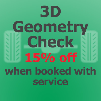 15% off Wheel Alignment when booked with service