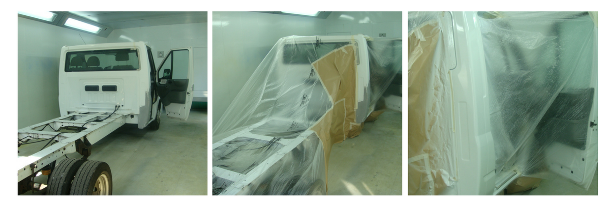 A day in the life of a Chassy cab in the spray booth!